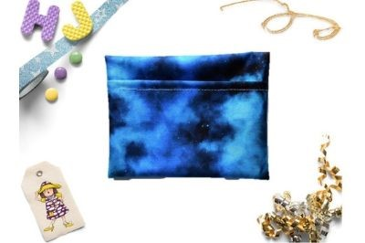 Click to order  Cloth Pad Wrapper Blue Galaxy PUL now